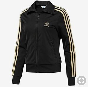 Adidas • Trefoil Black & Gold Track Jacket